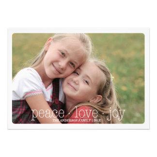 Paz, amor, día de fiesta Photocard - rojo de la al Anuncios