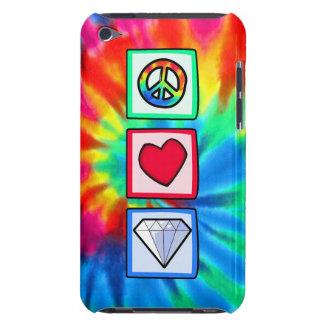 Paz, amor, diamantes iPod Case-Mate protectores