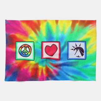 Paz amor egipcios toallas
