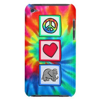 Paz, amor, elefantes barely there iPod fundas