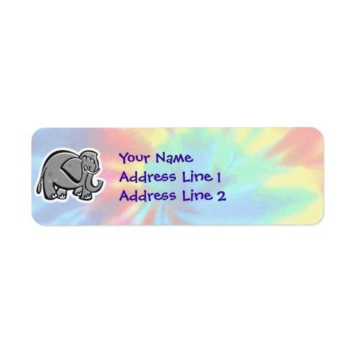 Paz, amor, elefantes etiqueta de remite