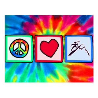 Paz, amor, escalada postal