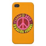 Paz, amor, escuela de enfermería iPhone 4 carcasa
