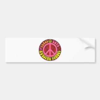 Paz, amor, escuela de enfermería pegatina para auto