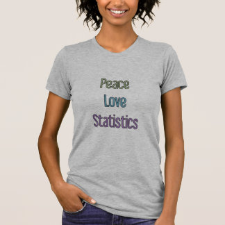 Paz, amor, estadísticas camisetas