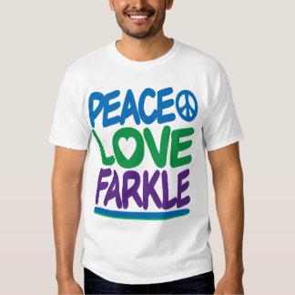 Paz, amor, Farkle Camisas
