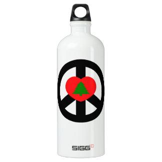 Paz, amor, Felices Navidad Botella De Agua