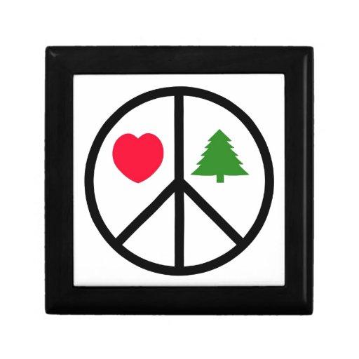 Paz, amor, Felices Navidad Caja De Recuerdo