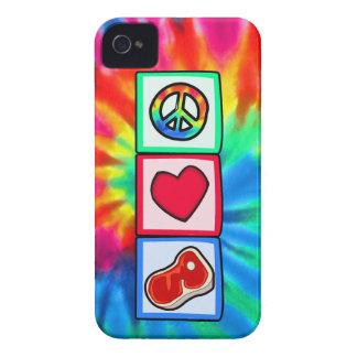 Paz, amor, filetes iPhone 4 Case-Mate cobertura