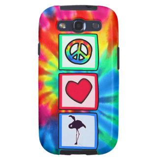 Paz amor flamencos galaxy s3 protector