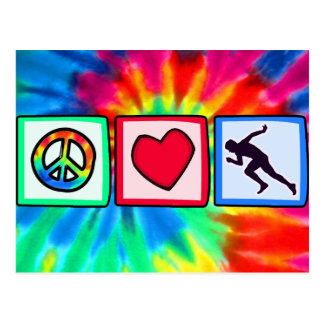 Paz, amor, funcionamiento tarjetas postales