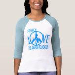 Paz, amor, fundación de Amanda Camisetas