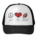 Paz, amor, fútbol gorras de camionero