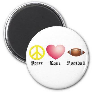 Paz, amor, fútbol iman