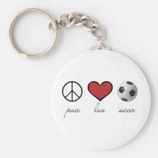 Paz amor fútbol llavero personalizado