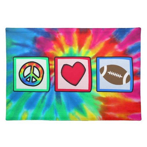 Paz, amor, fútbol manteles