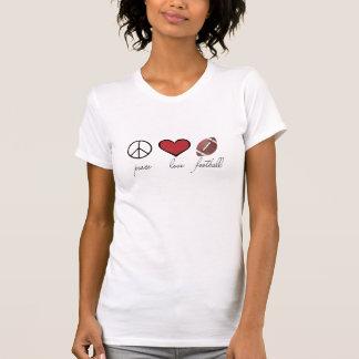 Paz amor fútbol camiseta