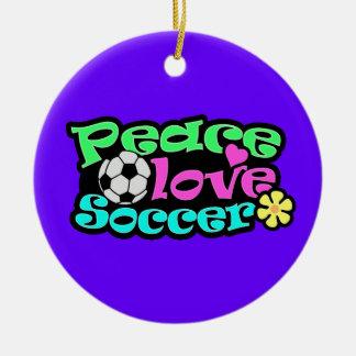 Paz, amor, fútbol; Retro Adorno De Navidad
