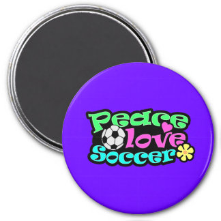 Paz, amor, fútbol; Retro Imán De Frigorifico