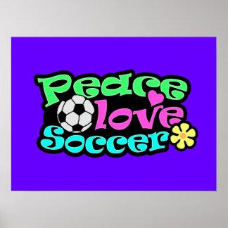 Paz, amor, fútbol; Retro Póster