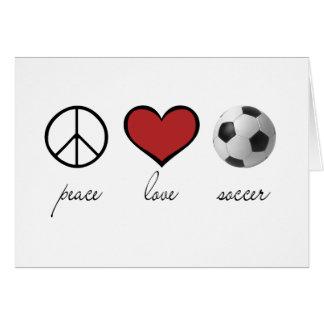 Paz amor fútbol tarjetón