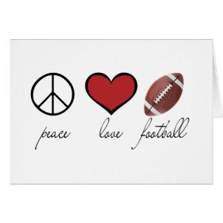 Paz amor fútbol tarjeta