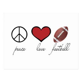 Paz amor fútbol tarjetas postales