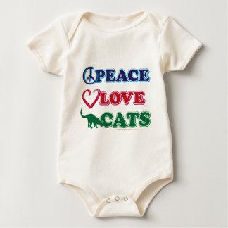 Paz-Amor-Gatos Body Para Bebé
