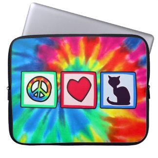 Paz, amor, gatos mangas computadora