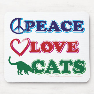 Paz-Amor-Gatos Mousepads