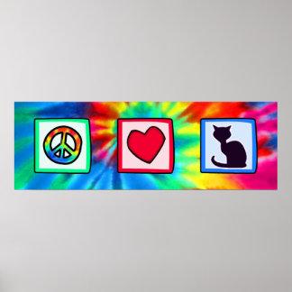 Paz, amor, gatos poster