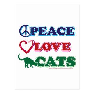 Paz-Amor-Gatos Postales