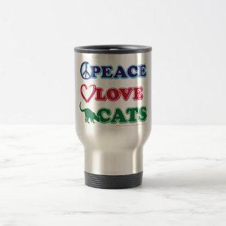 Paz-Amor-Gatos Taza De Viaje