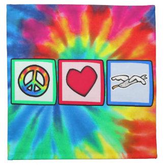 Paz amor gaviotas servilleta