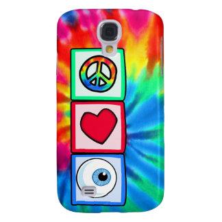 Paz, amor, globo del ojo