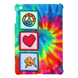 Paz, amor, Goldfish iPad Mini Funda