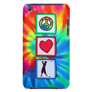 Paz, amor, golf del vintage Case-Mate iPod touch cárcasa