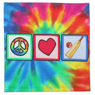 Paz, amor, grillo servilleta de papel