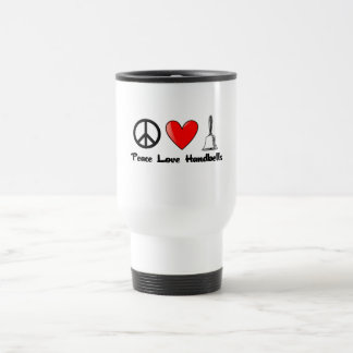 Paz, amor, Handbells Taza Térmica