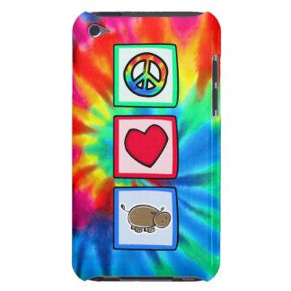 Paz, amor, hipopótamos barely there iPod carcasa