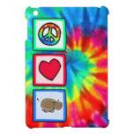 Paz, amor, hipopótamos iPad mini carcasas