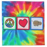 Paz, amor, hipopótamos servilleta