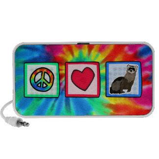 Paz, amor, hurónes laptop altavoces
