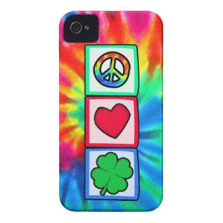 Paz, amor, irlandés Case-Mate iPhone 4 cárcasa