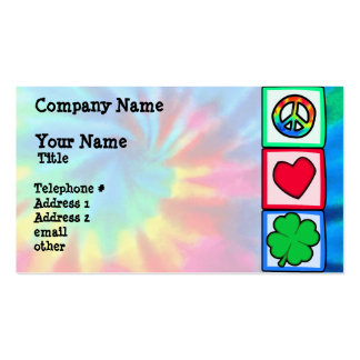 Paz, amor, irlandés tarjetas de visita