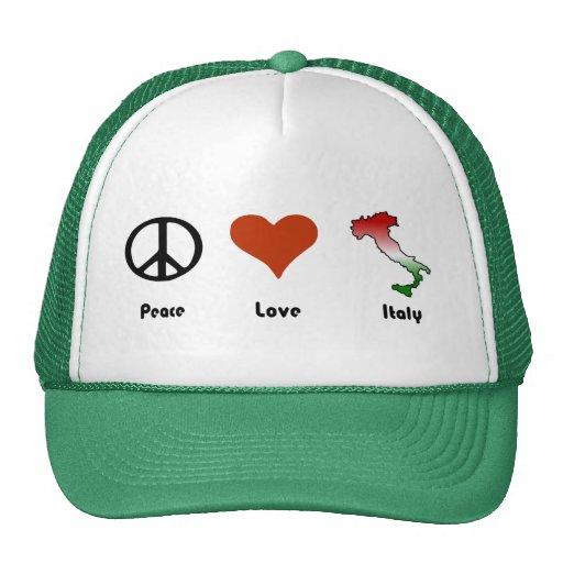 Paz, amor, Italia Gorros Bordados