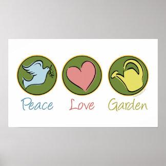 Paz amor jardín impresiones