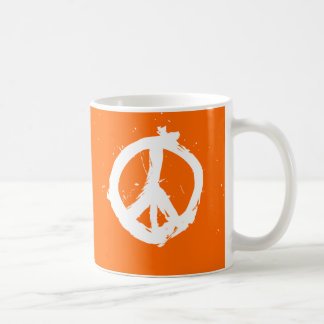 Paz. Amor. Java. Taza - naranja