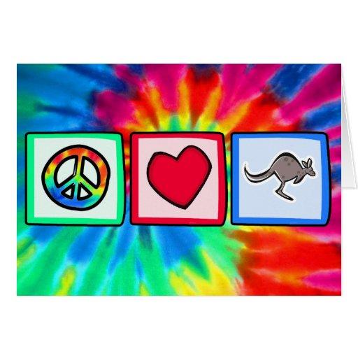 Paz, amor, KangaROOS Tarjetas