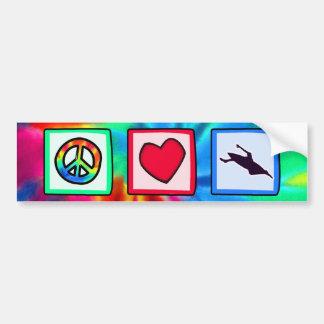 Paz, amor, Kayaking Pegatina Para Auto